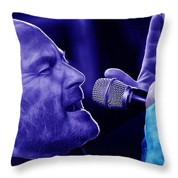 Phil Collins Collection Throw Pillow by Marvin Blaine