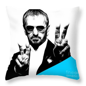 Ringo Starr Collection Throw Pillow by Marvin Blaine