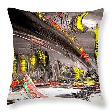 Cityscape Throw Pillow by Mark Kazav