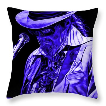 Dr. John Collection Throw Pillow by Marvin Blaine
