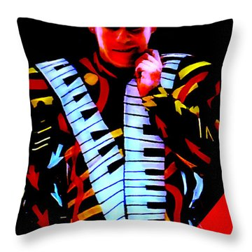 Elton John Collection Throw Pillow by Marvin Blaine