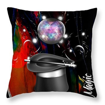 Magic Collection Throw Pillow by Marvin Blaine