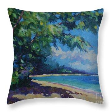 7-mile Beach Throw Pillow by John Clark