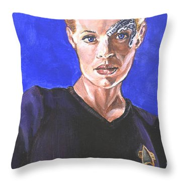 7 Of 9 Throw Pillow by Bryan Bustard
