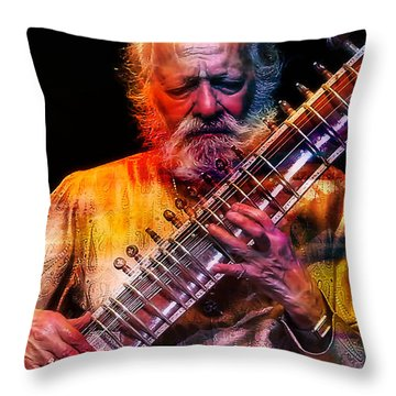 Ravi Shankar Collection Throw Pillow by Marvin Blaine