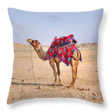 Thar Desert - India Throw Pillow by Joana Kruse