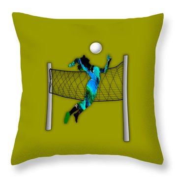Vollyball Collection Throw Pillow by Marvin Blaine