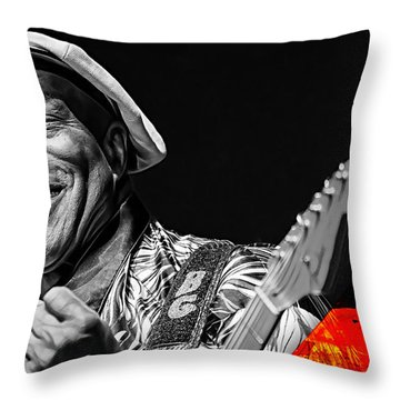 Buddy Guy Collection Throw Pillow by Marvin Blaine