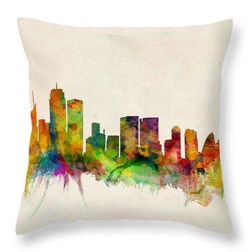 Sydney Australia Skyline Throw Pillow by Michael Tompsett