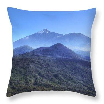 Tenerife - Mount Teide Throw Pillow by Joana Kruse