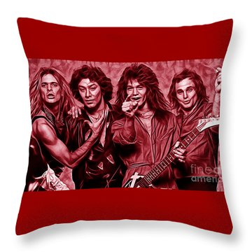 Van Halen Collection Throw Pillow by Marvin Blaine