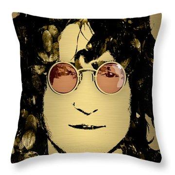 John Lennon Collection Throw Pillow by Marvin Blaine