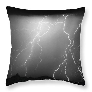 85255 Black And White Throw Pillow by James BO  Insogna