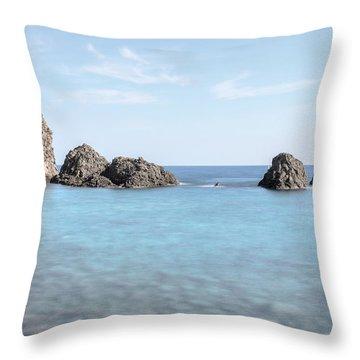Aci Trezza - Sicily Throw Pillow by Joana Kruse