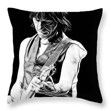 Jeff Beck Collection Throw Pillow by Marvin Blaine