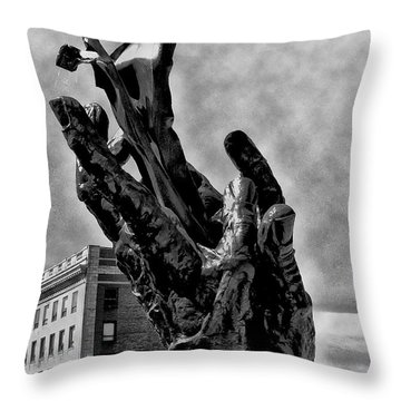 911 Memorial - Norristown Throw Pillow by Bill Cannon