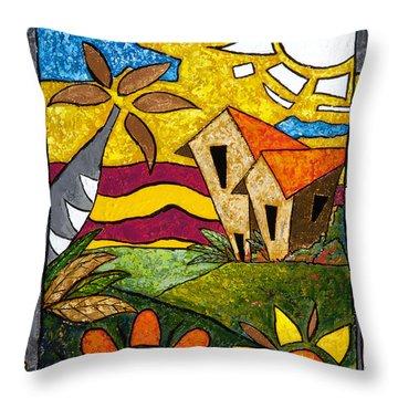 A Beautiful Day Throw Pillow by Oscar Ortiz