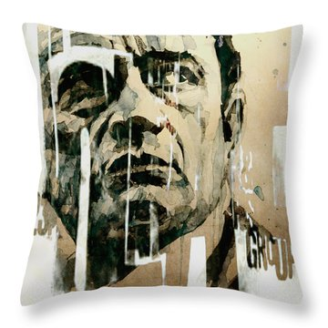 A Boy Named Sue Throw Pillow by Paul Lovering