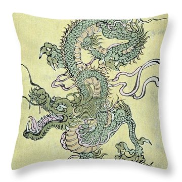A Chinese Dragon Throw Pillow by Chinese School