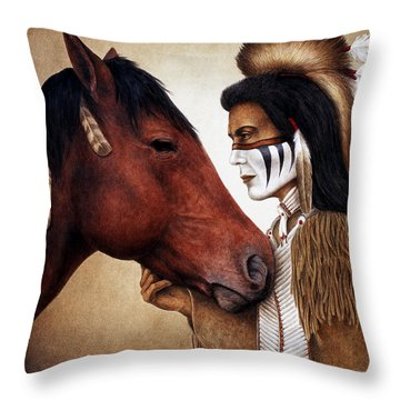 A Conversation Throw Pillow by Pat Erickson