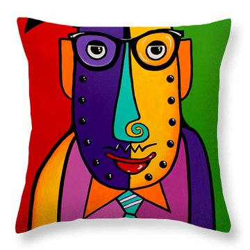 A Corporate Kinda Guy Throw Pillow by Tim Ross