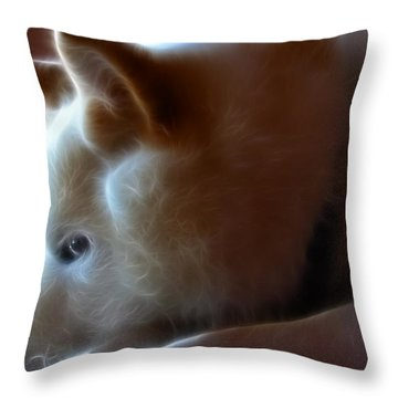 A Dogs Life Throw Pillow by Stuart Turnbull