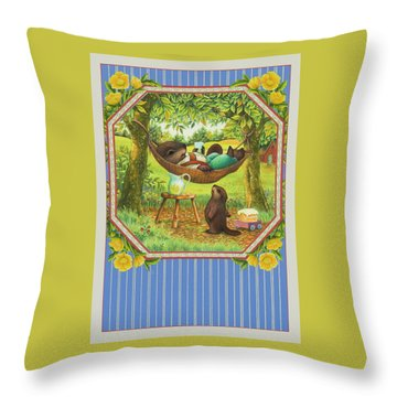 A Father's Day Treat Throw Pillow by Lynn Bywaters