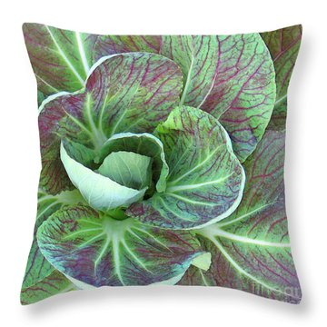 A Floral I Throw Pillow by Gary Everson