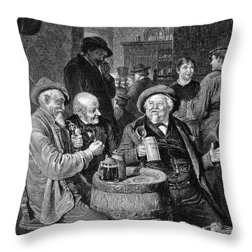 A German Tavern Throw Pillow by Granger