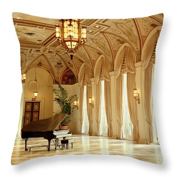 A Grand Piano Throw Pillow by Rich Franco