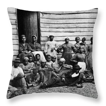 A Group Of Slaves Throw Pillow by Photo Researchers