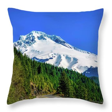 A Mountain Called Hood Throw Pillow by Jon Burch Photography