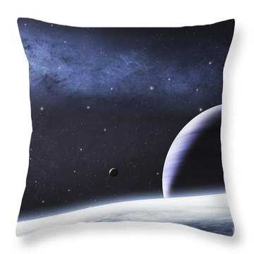 A Mysterious Light Illuminates A Small Throw Pillow by Justin Kelly