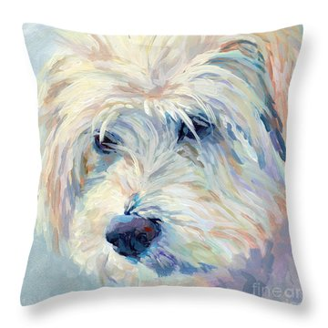 A Natural Blonde Throw Pillow by Kimberly Santini
