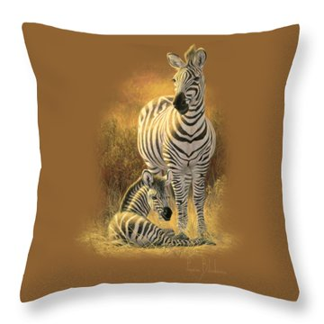 A New Day Throw Pillow by Lucie Bilodeau