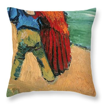 A Pair Of Lovers Throw Pillow by Vincent Van Gogh