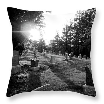 A Place To Rest Throw Pillow by Donna Blackhall