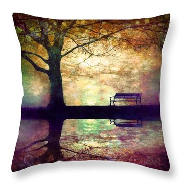 A Place To Rest In The Dark Throw Pillow by Tara Turner