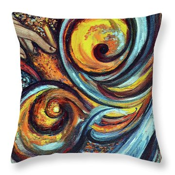 A Ray Of Hope Throw Pillow by Harsh Malik