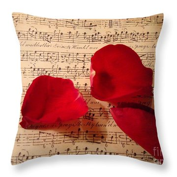 A Romantic Note Throw Pillow by Kathy Bucari