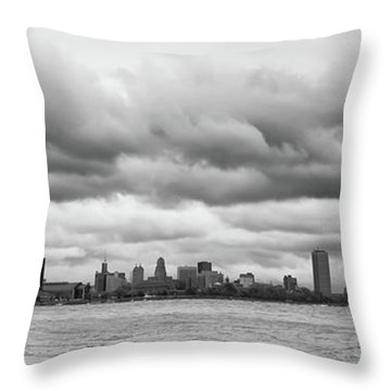A Rotten Day In Buffalo  9230 Throw Pillow by Guy Whiteley