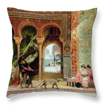 A Royal Palace In Morocco Throw Pillow by Benjamin Jean Joseph Constant