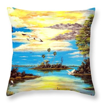 A Secret Place Throw Pillow by Riley Geddings