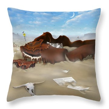 A Slow Death In Piano Valley Sq Throw Pillow by Mike McGlothlen