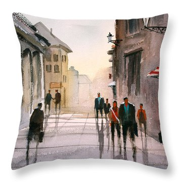 A Stroll In Italy Throw Pillow by Ryan Radke