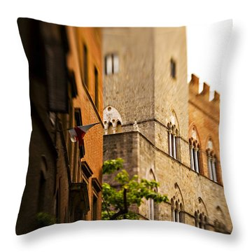A Tree Grows Throw Pillow by Marilyn Hunt
