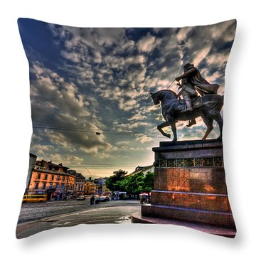 Above All Throw Pillow by Evelina Kremsdorf