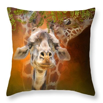 Above It All Throw Pillow by Carol Cavalaris