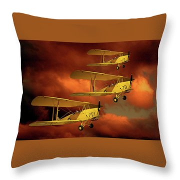 Above The Red Skys Throw Pillow by Steven Agius