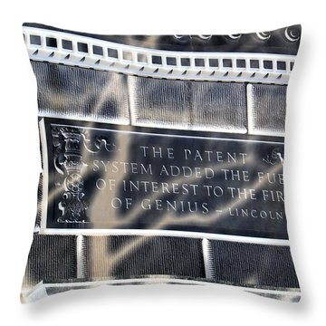 Abraham Was A Smart Man Throw Pillow by Angelina Vick